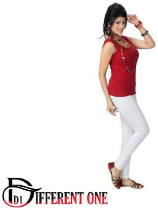 D1 DIFFERENT ONE Cotton Leggings - White