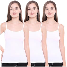 Pack of 3 Regular U Neck Camisole in White Colour By Bodycare