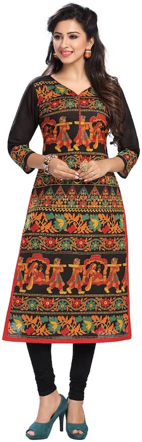 Padmini Cotton Printed Dress Material for Kurta - Multi