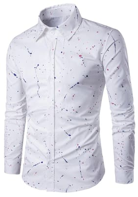 Paint Splatter Long Sleeve Shirt