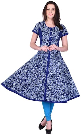 Palakh Anarkali Women's Cotton Kurti