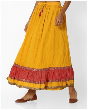 Panelled Mid-Rise Maxi Skirt