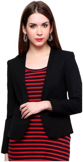Pannkh Black Polyester Blazer