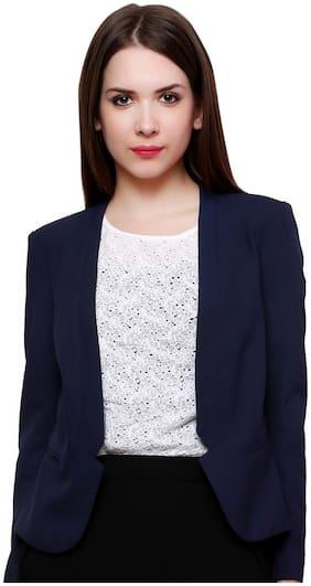 Pannkh Blue Polyester Blazer