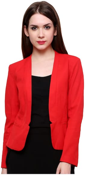 Pannkh Red Polyester Blazer