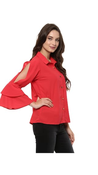 Sleeves Pannkh Bell With Loose Women's Shirt wxBqxCySXr