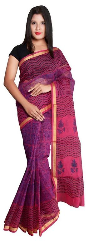 Panvi Hand Block printed Kota Cotton Saree