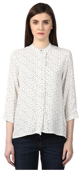 Park Avenue Woman White Regular Fit Viscose Tops