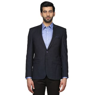 2e89733086 Buy Park Avenue Blue Custom Fit Blazer Online at Low Prices in India ...