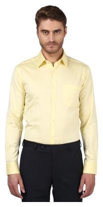 Park Avenue Men Slim fit Formal Shirt - Yellow