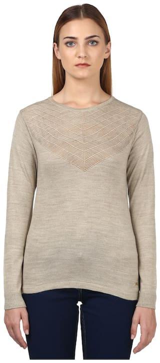 Park Avenue Woman Grey Regular Fit Sweater