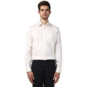 Park Avenue Men White Cotton Regular Fit Wrinkle Free & Non Iron Shirt