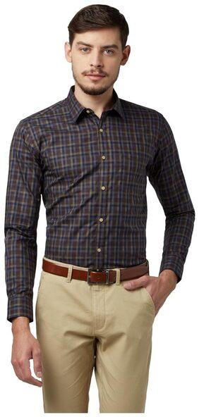 Park Avenue Men Slim Fit Formal Shirt - Green