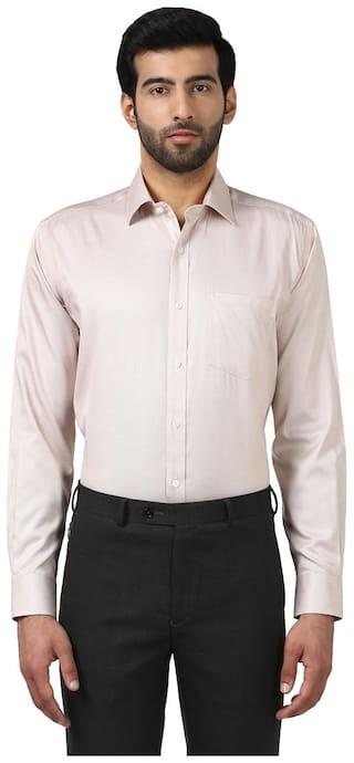 Park Avenue Men Regular fit Formal Shirt - Beige