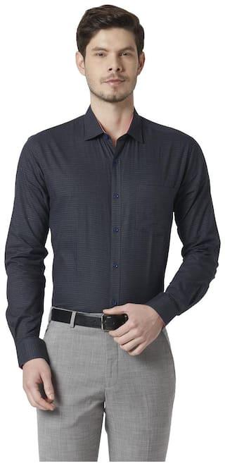 Park Avenue Men Slim fit Formal Shirt - Blue