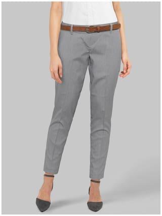 Park Avenue Women Grey Regular fit Regular trousers