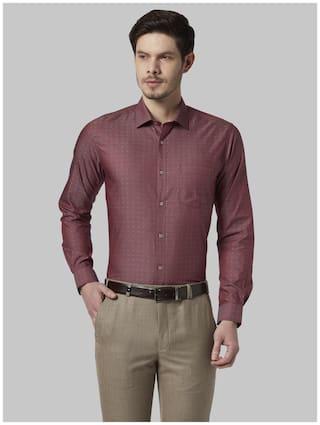 Park Avenue Men Super slim fit Formal Shirt - Maroon