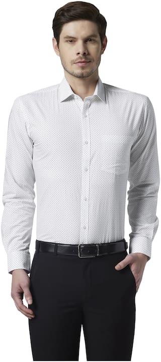 Park Avenue Men Slim fit Formal Shirt - White