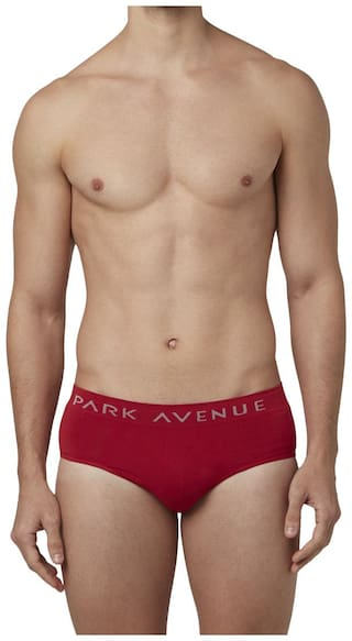 Park Avenue Solid Briefs - Red