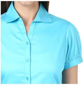 Park Blend Regular Fit Blue Dark Avenue Shirt Cotton Women rFC0rq