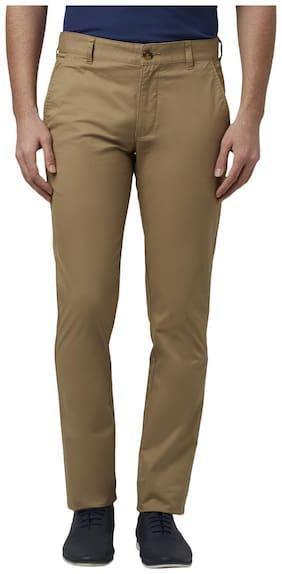 Men Tapered Fit Regular Trousers