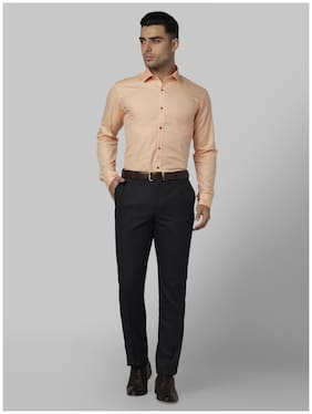 Men Slim Fit Solid Formal Shirt