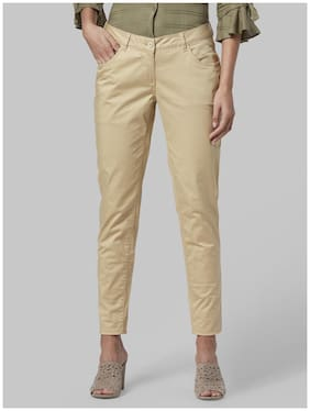 Women Solid Regular Trousers