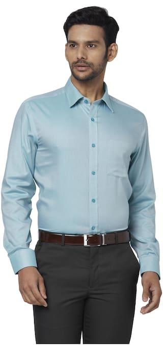 Park Avenue Men Regular fit Formal Shirt - Green