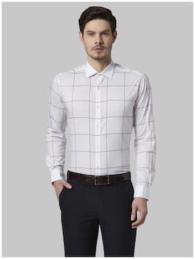 Men Super Slim Fit Checked Formal Shirt