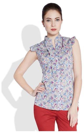 Park Shirt Avenue Women Fit White Slim Cotton fwH4qfxa