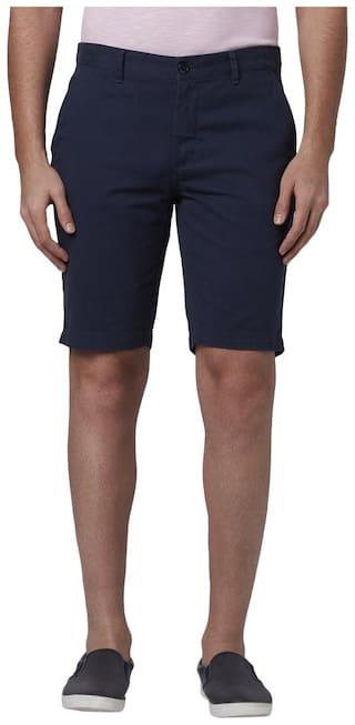 Park Avenue Men Blue Slim Fit Regular Shorts