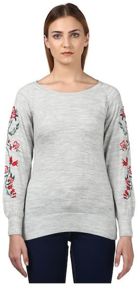 Women Embroidered Sweater