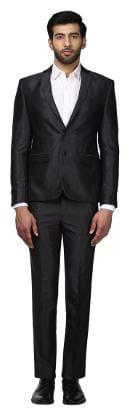Park Avenue Black Terry Rayon Neo Fit Suit
