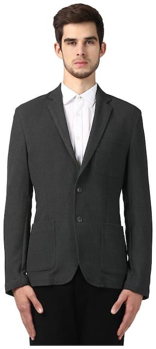 Park Avenue Men Polyester Slim fit Blazer - Grey