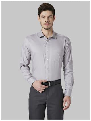 Park Avenue Men Slim fit Formal Shirt - Grey