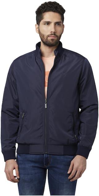 Park Avenue Men Cotton Bomber Jacket Blue color