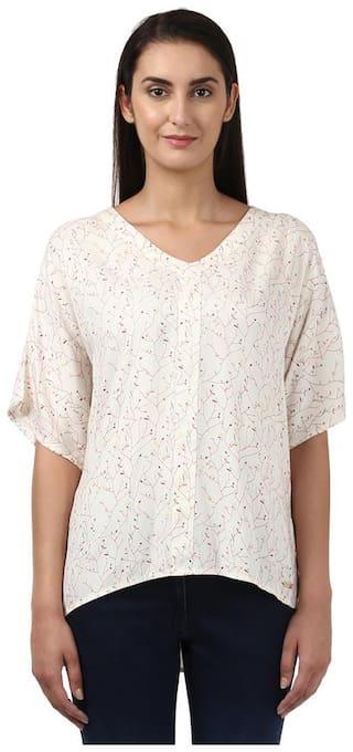 Park Avenue Women Printed Regular top - White