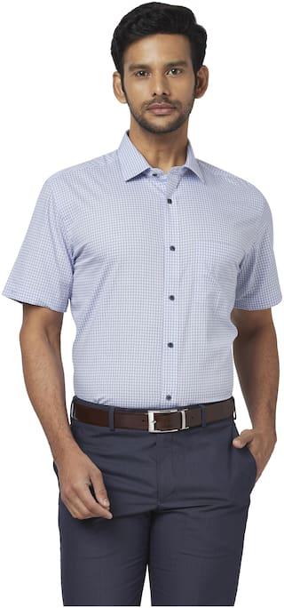 Park Avenue Men Regular fit Formal Shirt - Blue