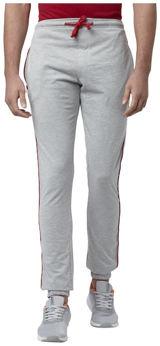 Park Avenue Men Grey Solid Regular fit Track pants