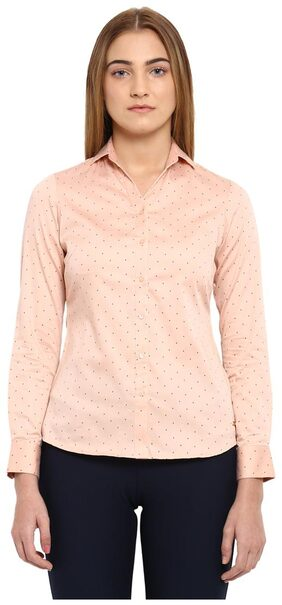 Park Avenue Woman Fawn Cotton Regular Fit Shirt