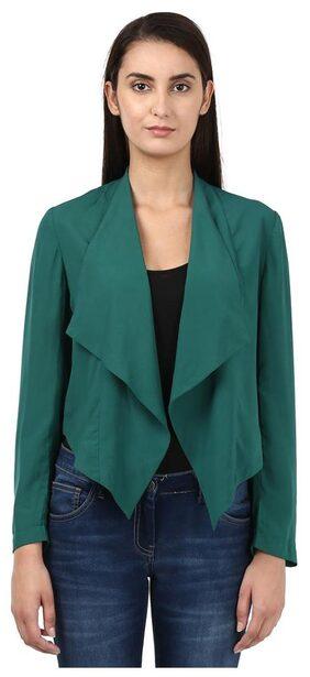 Park Avenue Woman Dark Green Polyester Regular Fit Top