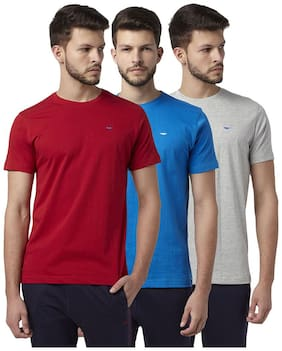 Men Round Neck Solid T-Shirt Pack Of 3