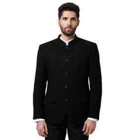 Park Avenue Men Polyester Slim Fit Suit - Black