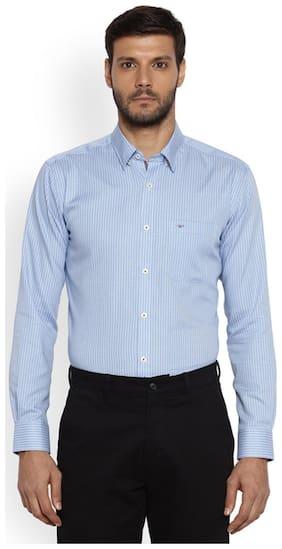 Park Avenue Men Blue Slim Fit Cotton Shirt