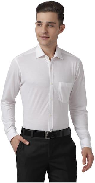 Park Avenue Men Super slim fit Formal Shirt - White