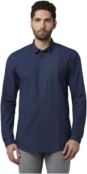 Men Slim Fit Vertical Stripes Casual Shirt Pack Of 1