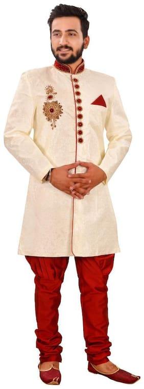 Men Solid Slim Fit Sherwani ,Pack Of 1