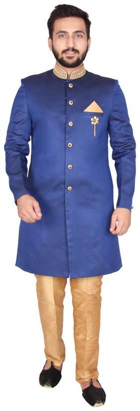 Men Solid Slim Fit Sherwani