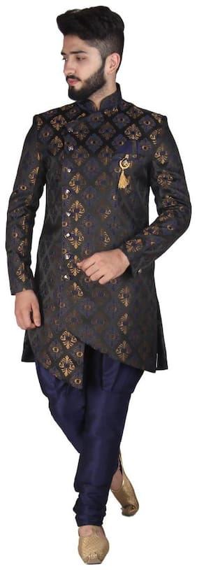 Men Printed Slim Fit Sherwani ,Pack Of 1
