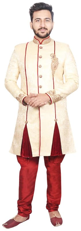 Men Solid Slim Fit Sherwani ,Pack Of 1